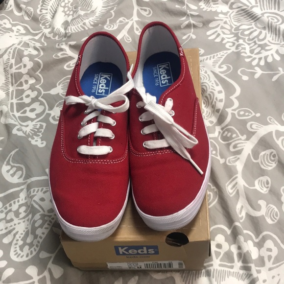 c8577647b62 Keds Shoes - Keds red champion tennis shoes